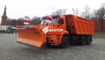Кдм КАМАЗ-6520 с распределителем и отвалом RASCO